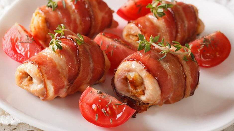 Receita de medalhão de frango com bacon
